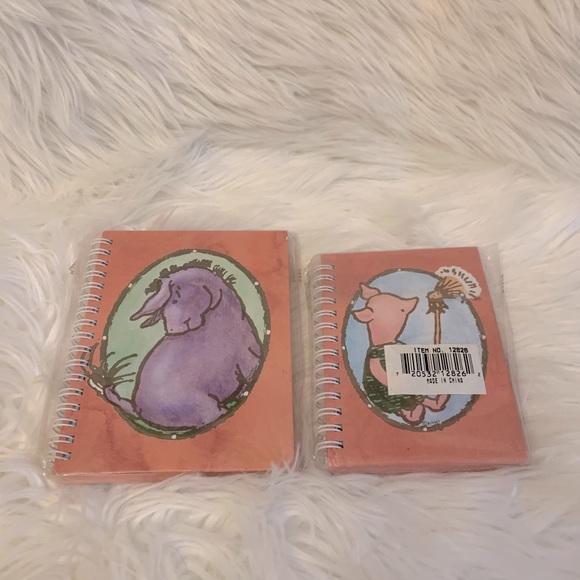 Eeyore & Piglet Mini Notebooks•set of 2•never used